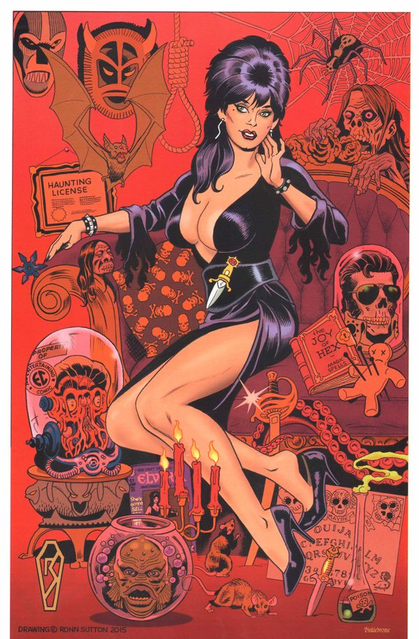 Elvira by local comic guru Ronn Sutton, appearing at Ottawa Comiccon.