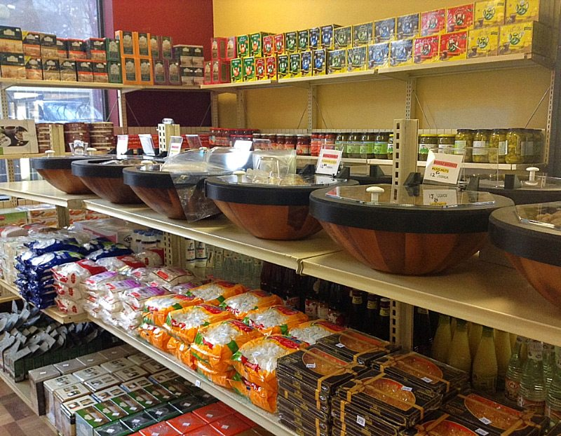 In just one month, Shiraz Market owner Vali Shahheydari stocked the shelves with Middle Eastern groceries and delicacies, including more than three dozen types of spiced nuts in containers