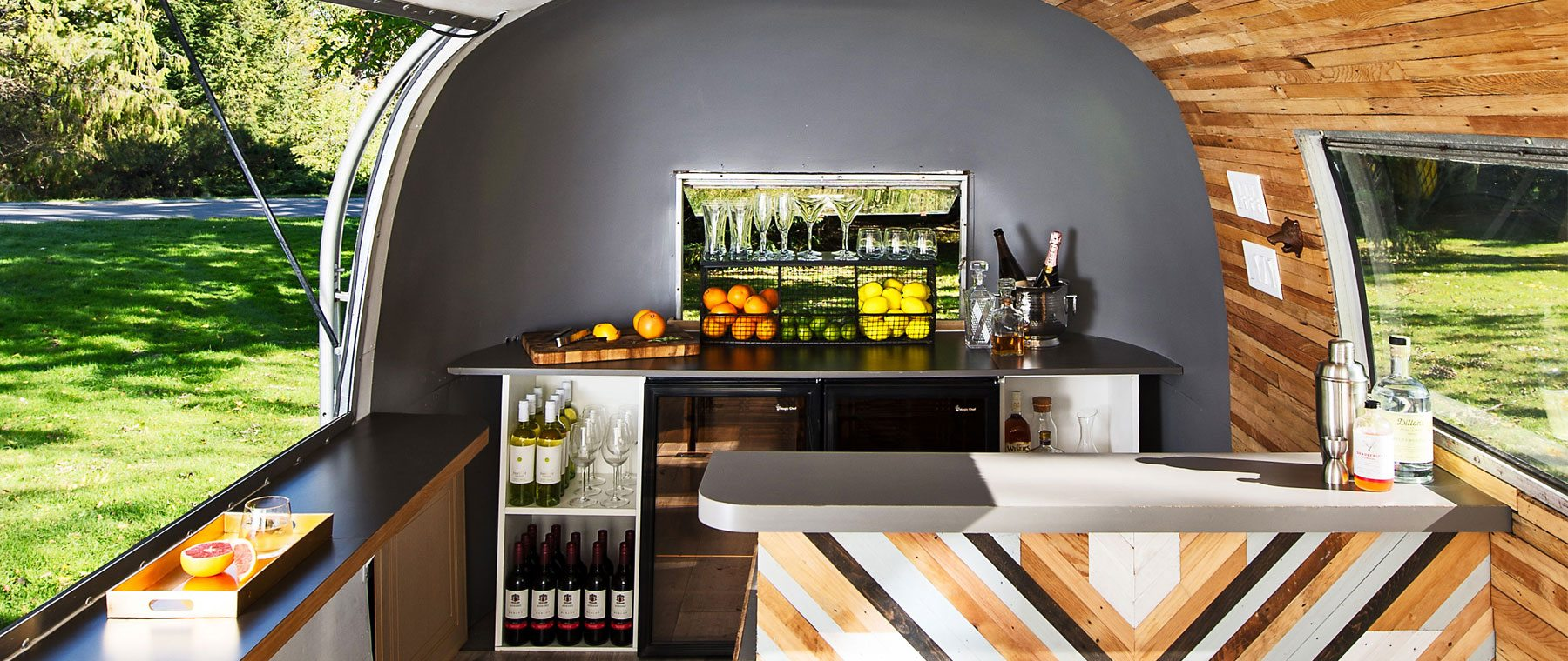 Tricked-out trailer — Cellar 82's roving party space