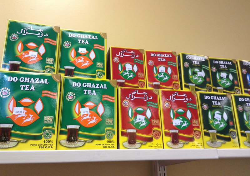 Some of the many teas that the market has available on its shelves.