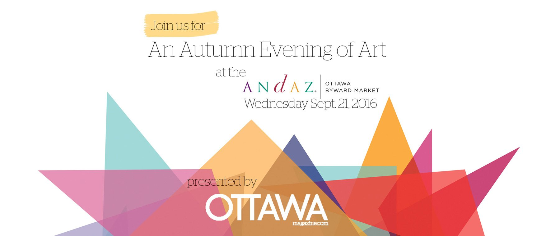 You're Invited! An Evening of Art at the Andaz Hotel