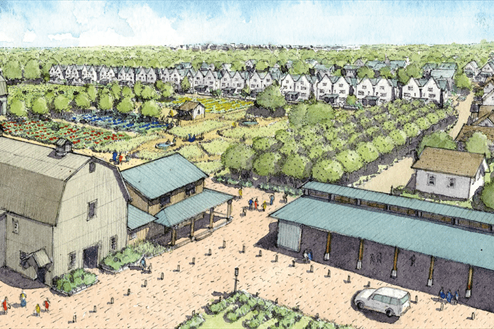 An illustration of the future of Hendrick Farm