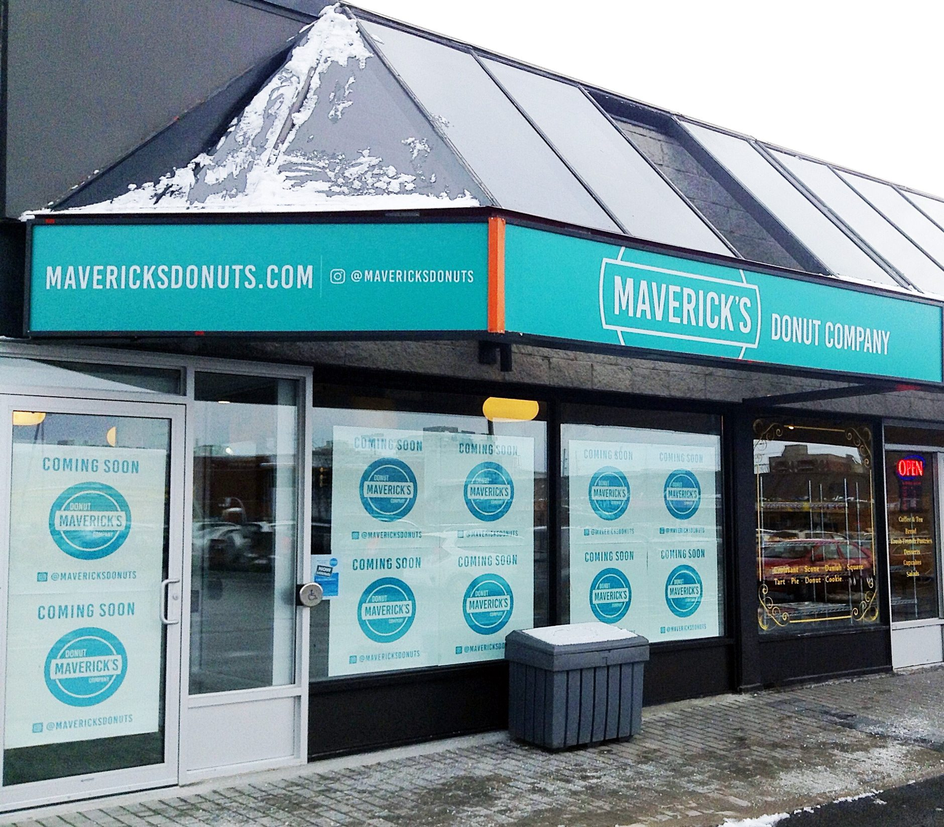 Maverick's Donut Company, located at the Blue Heron Mall at 1500 Bank Street, opens for business this Friday