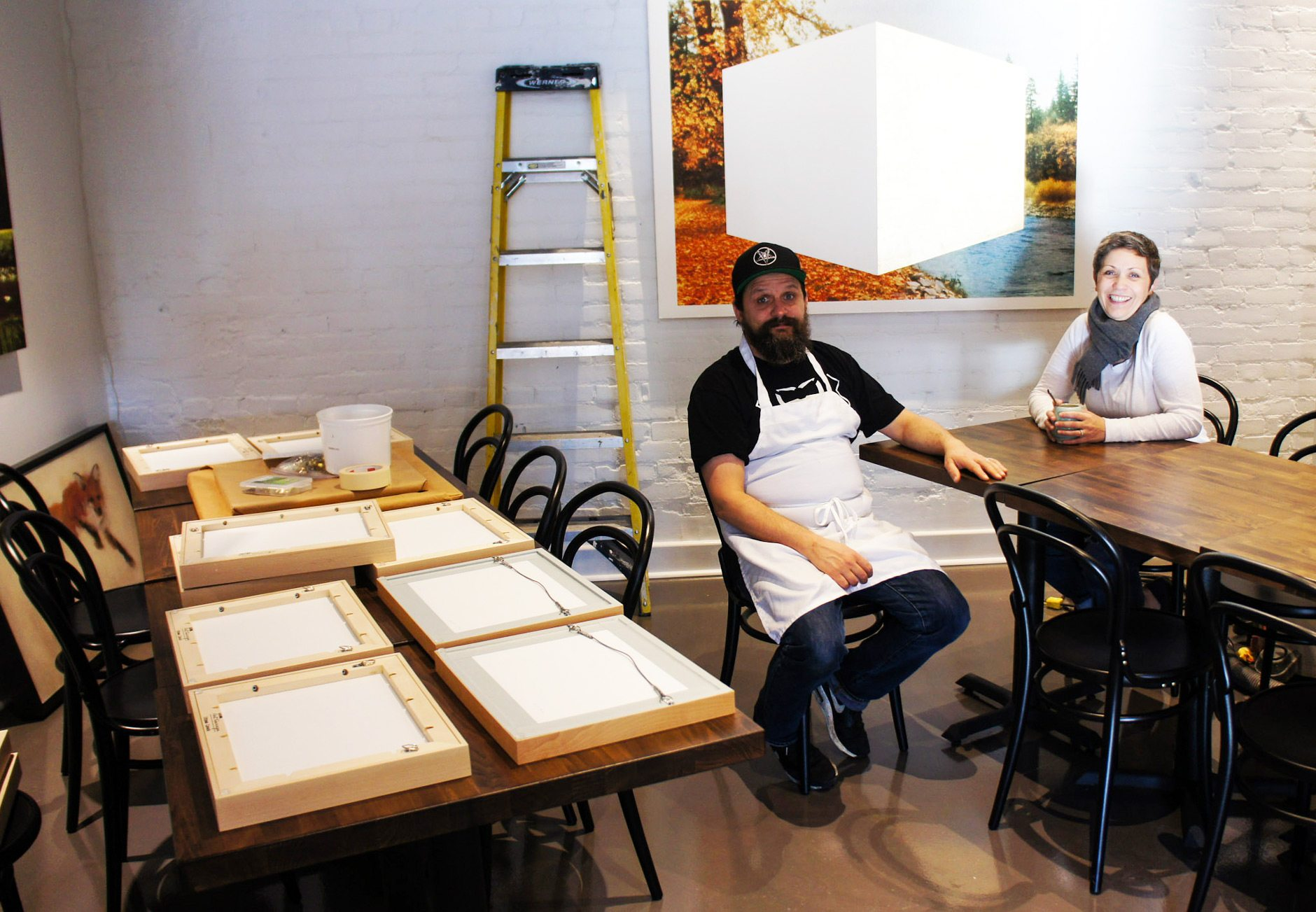 Doiron and Lori Wojcik in the midst of renovating their new restaurant. Photo: Katie Shapiro