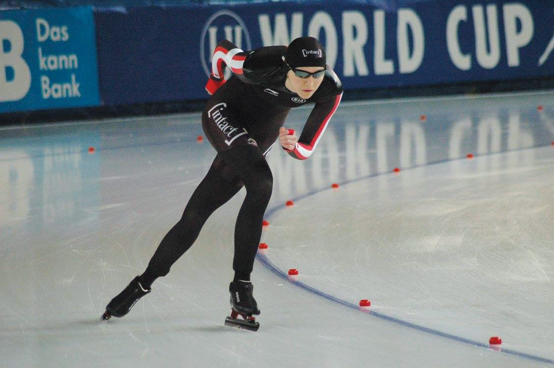 Ottawa speed skater Isabelle Weidemann. Photo: David Holland, Canadian Sports Institute