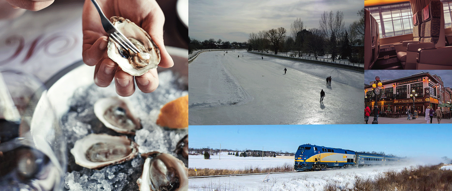 Hang with policy wonks (and eat oysters) at Metropolitan Brasserie (photo by Christian Lalonde); experience frostbite on the Rideau Canal; arrive in (dated) style by Via rail; tour the Market, where Tinder connects co-eds with bureaucrats