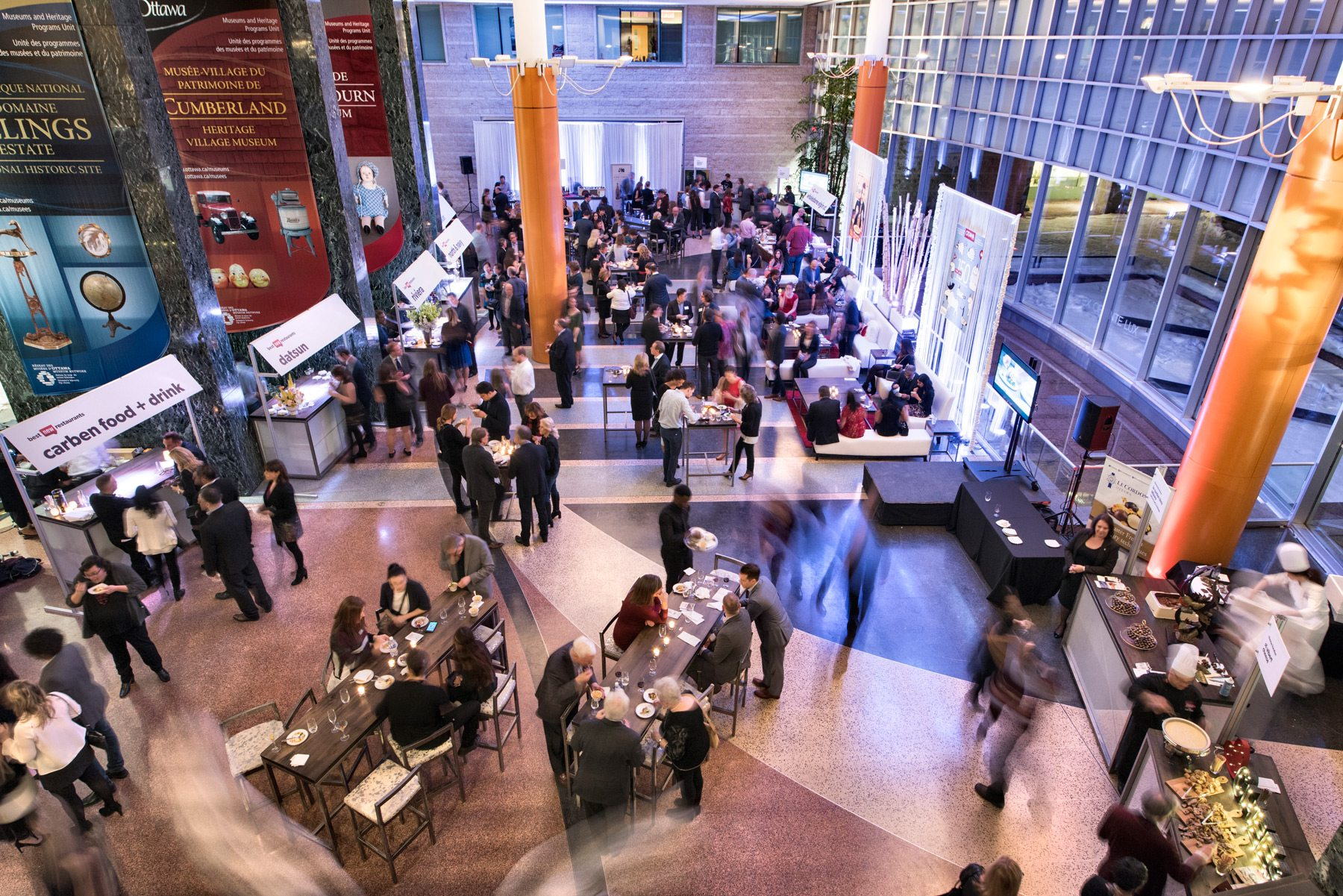 Ottawa Magazine's First Annual Where To Eat Event at City Hall in January 2017. Creative Edge and Lou Lou Lounge masterminded the space's transformation. Photo: Marc Fowler