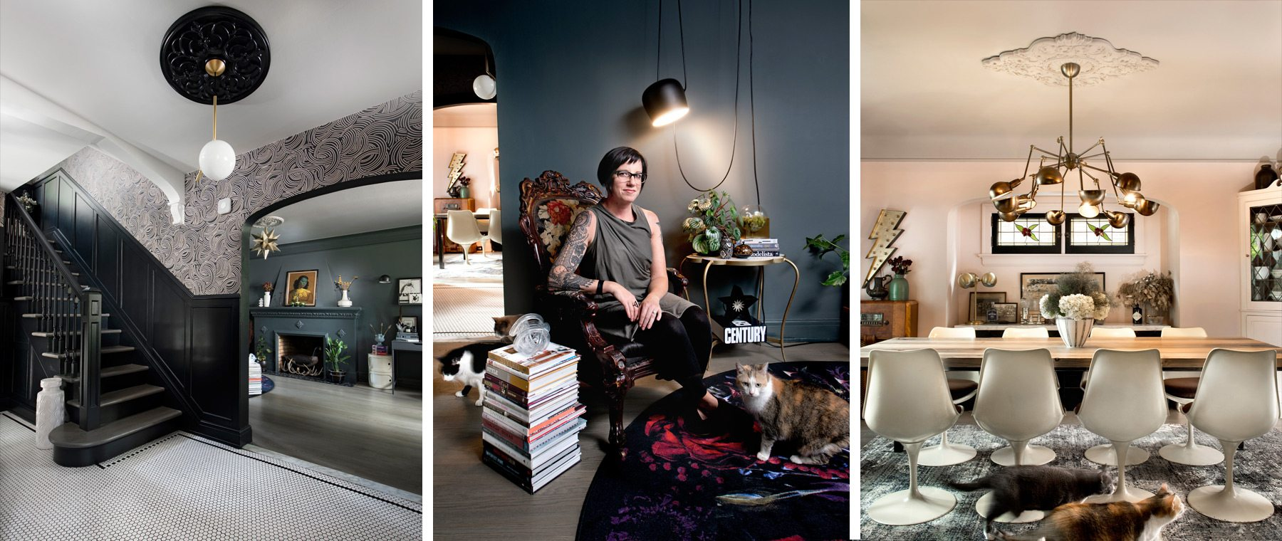 Boldly does it — Rich colours & flea-market finds add cosmopolitain flair to design blogger's home