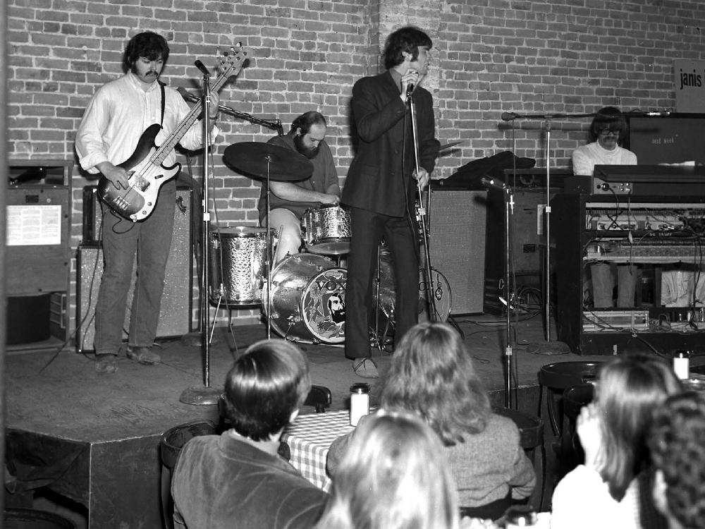Night Owl Hangout — The Modern Rock Quartet play at Le Hibou, circa 1970. Photography: Dave Sproul photo collection, City of Ottawa archives, /mg397-7000050