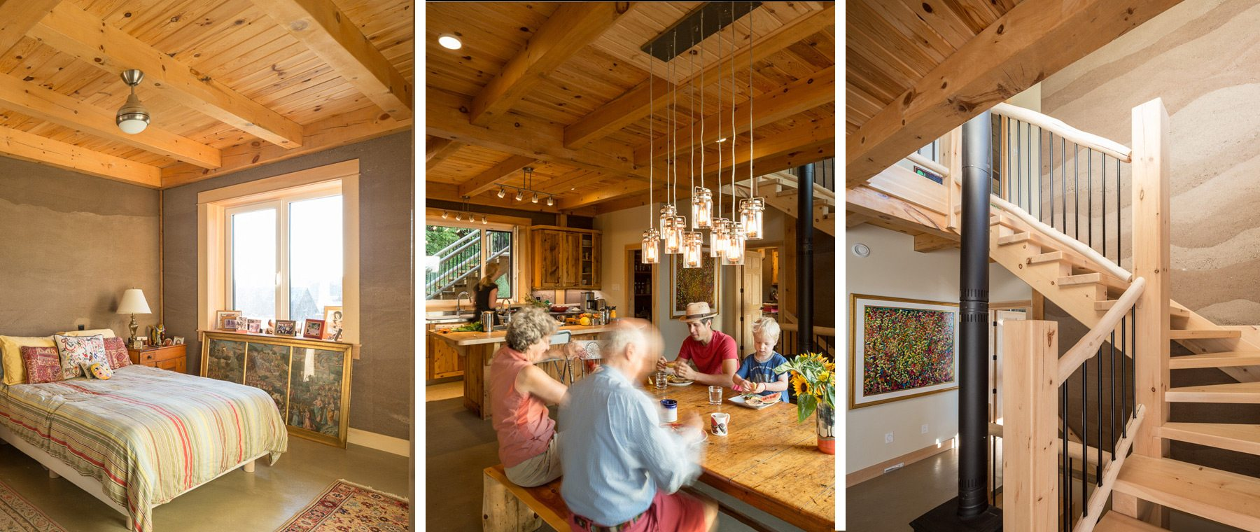 Rethinking the Art of Living Green | Rammed-earth dwelling home to three generations