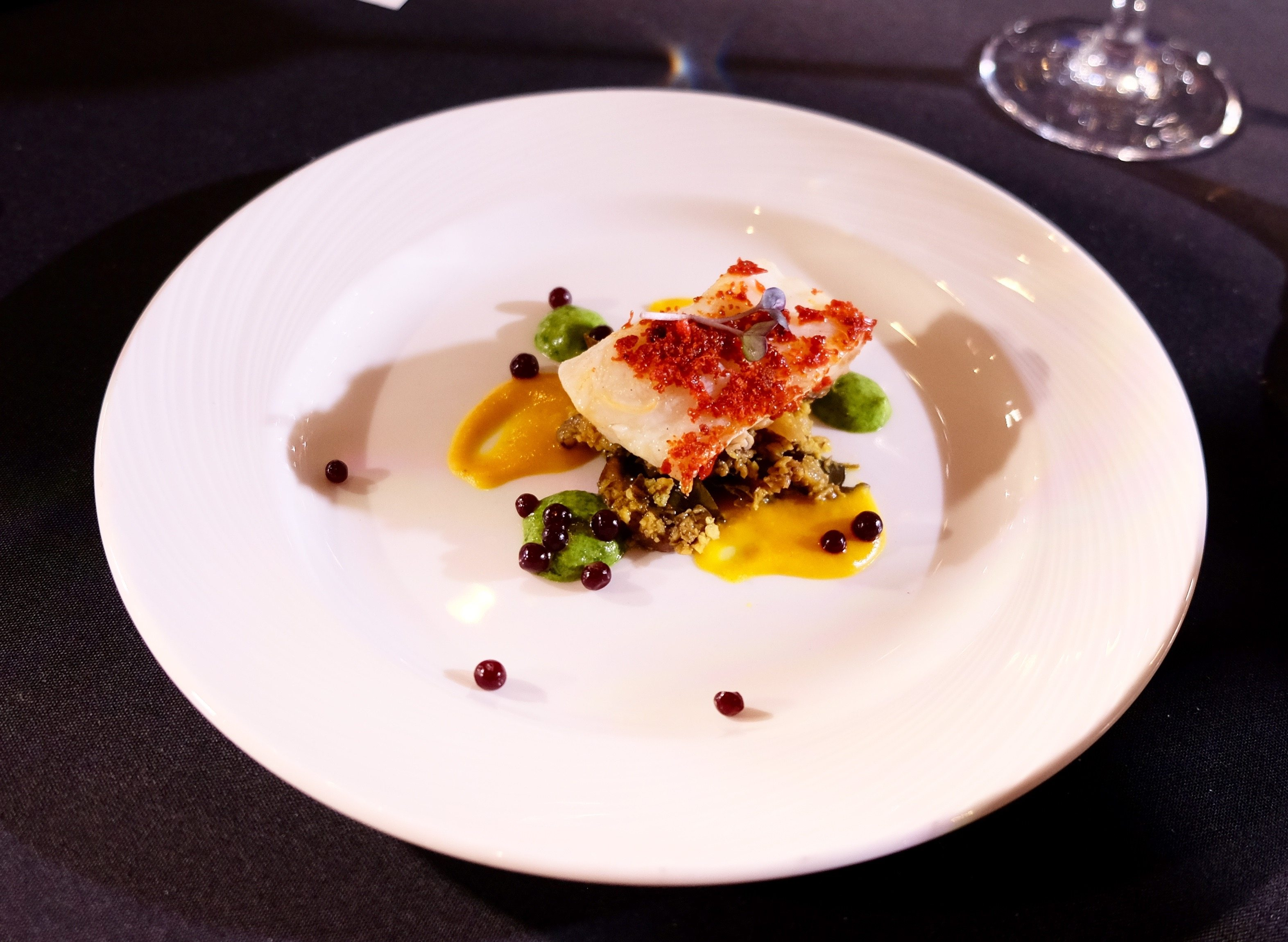 Chef Joe Thottungal's won gold with this halibut dish in 2016