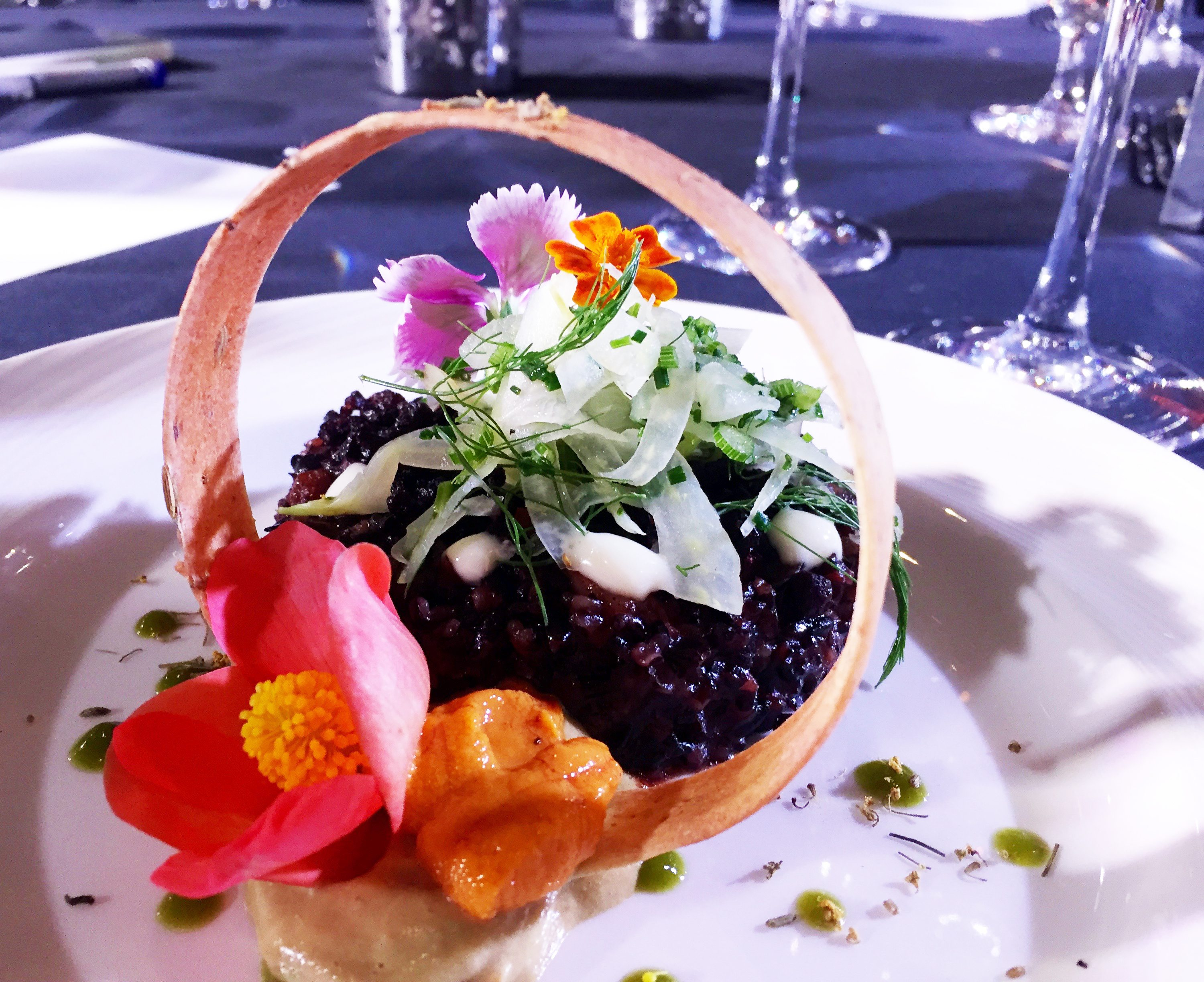 Chef Marc Doiron's unique risotto dish presented at the 2016 competition