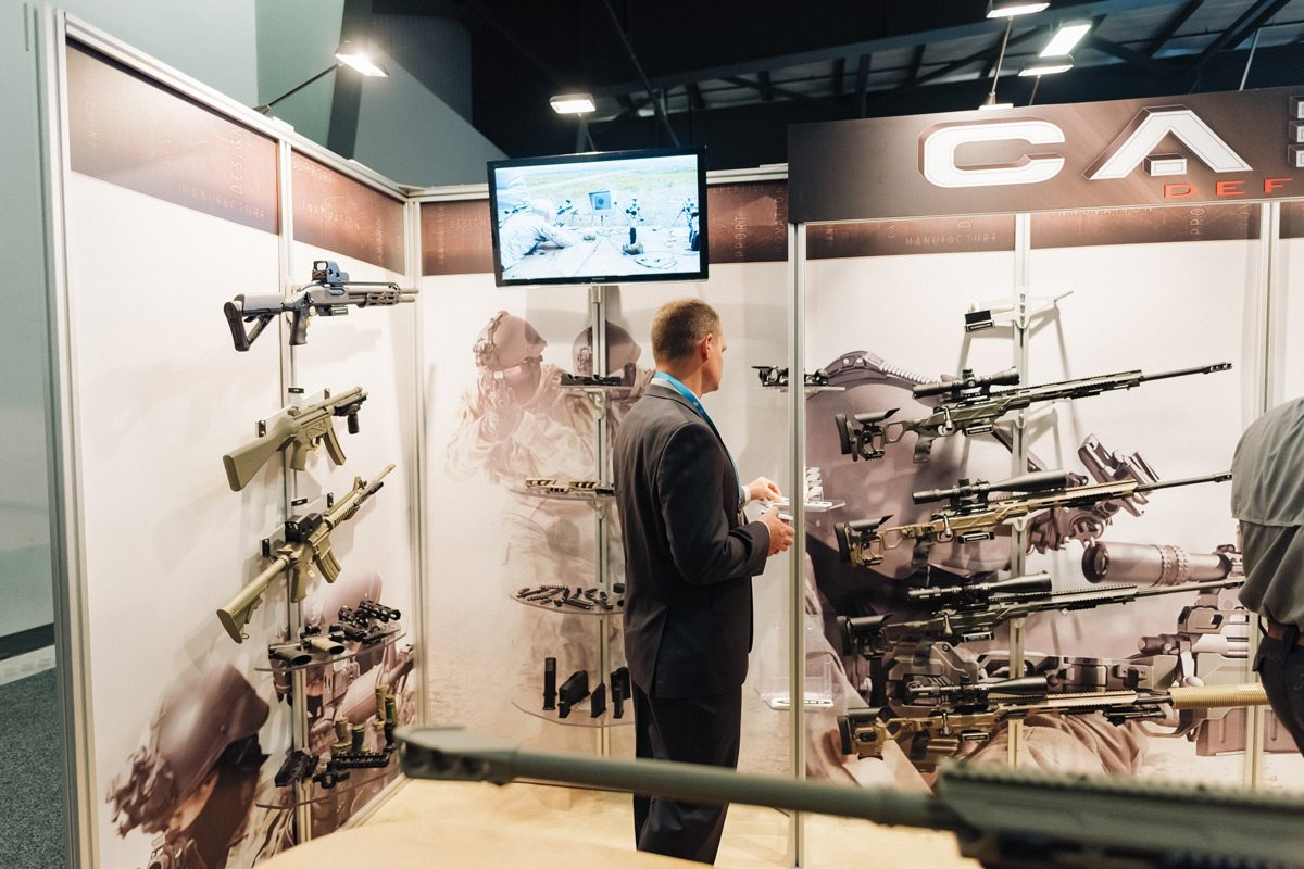 Window shopping for a sniper rifle perhaps? Photo: Ben Welland, taken at CANSEC 2016