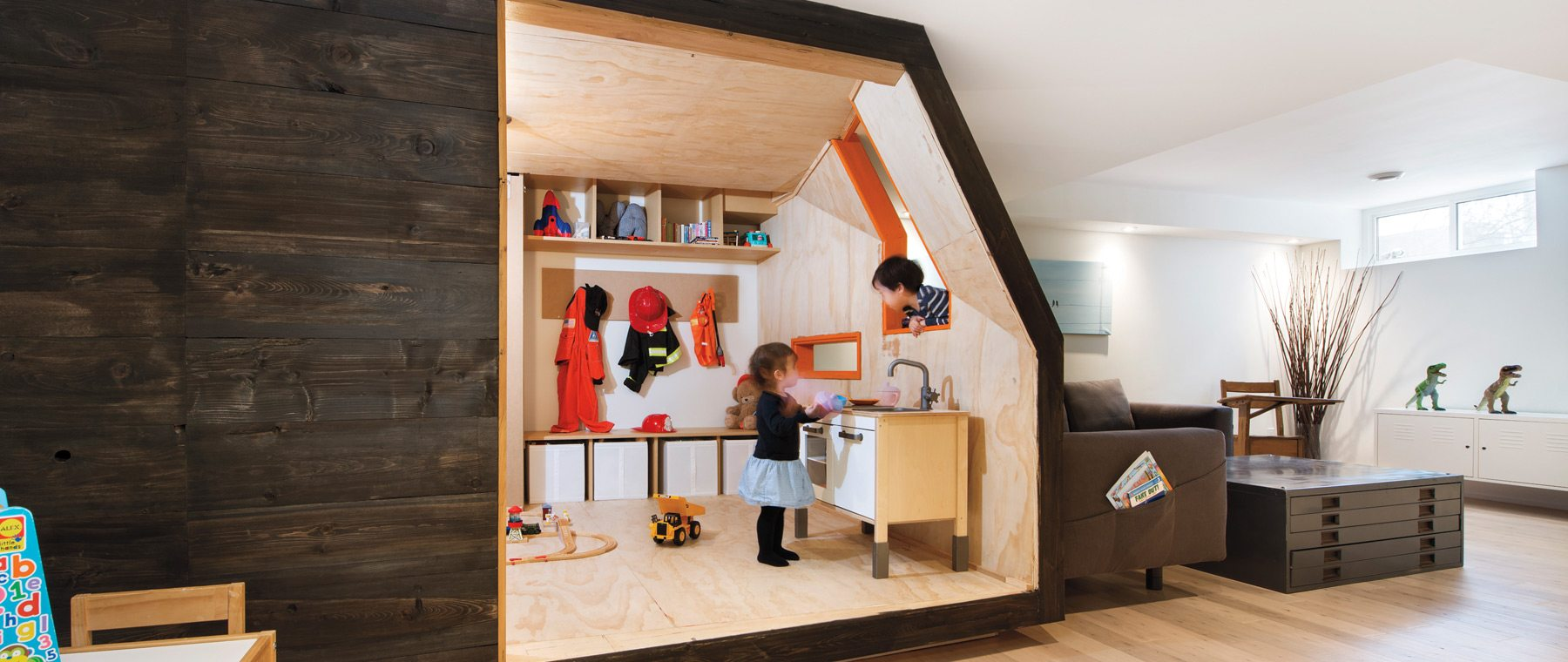 An abstract playhouse encourages imaginative fun
