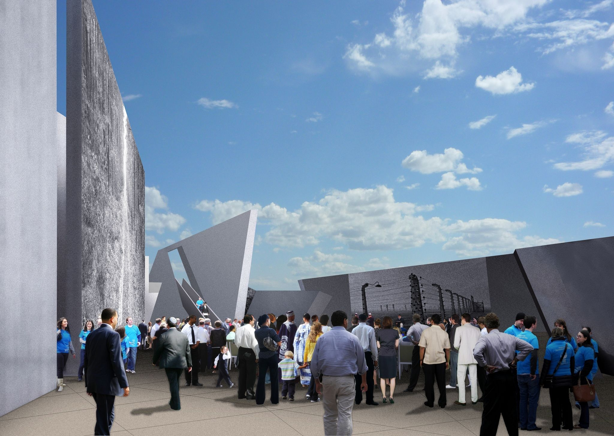 What the central gathering space will look like inside the National Holocaust Monument once completed. Courtesy of NCC