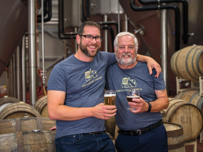 Father-son team, Tim and Steve Beauchesne of Beau's Brewery put craft beer on our radar, and continue to innovate with brilliant brews, cool events, and a savvy employee share ownership deal to keep Beau's independent. Photo: courtesy of Beau's