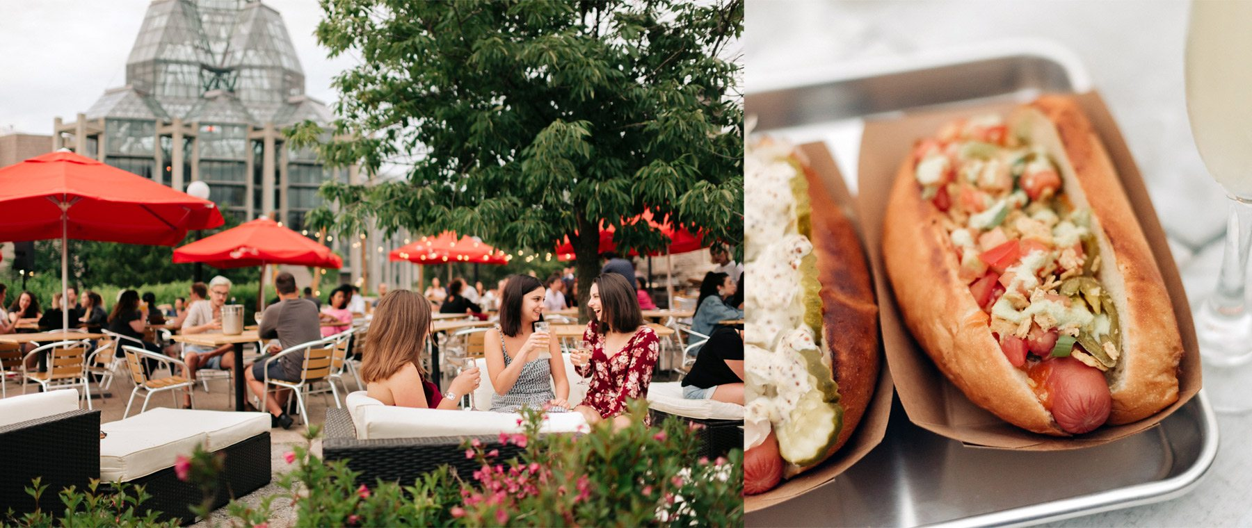 Champagne, hotdogs, and a killer view: Welcome to Tavern on the Hill