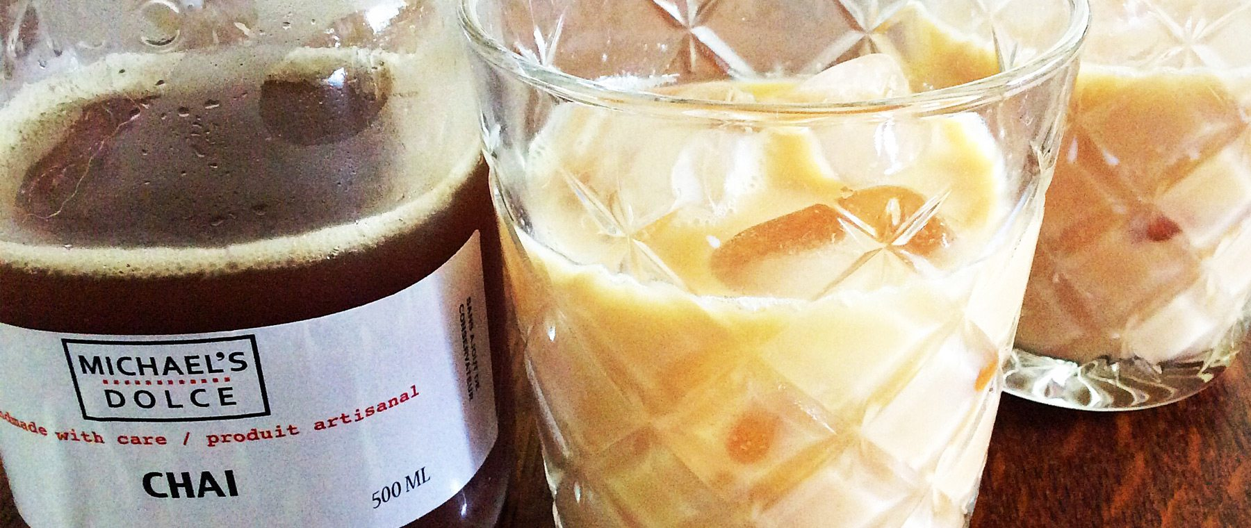 Icy chai lattes in a jar — Michaelsdolce's tea now available all week