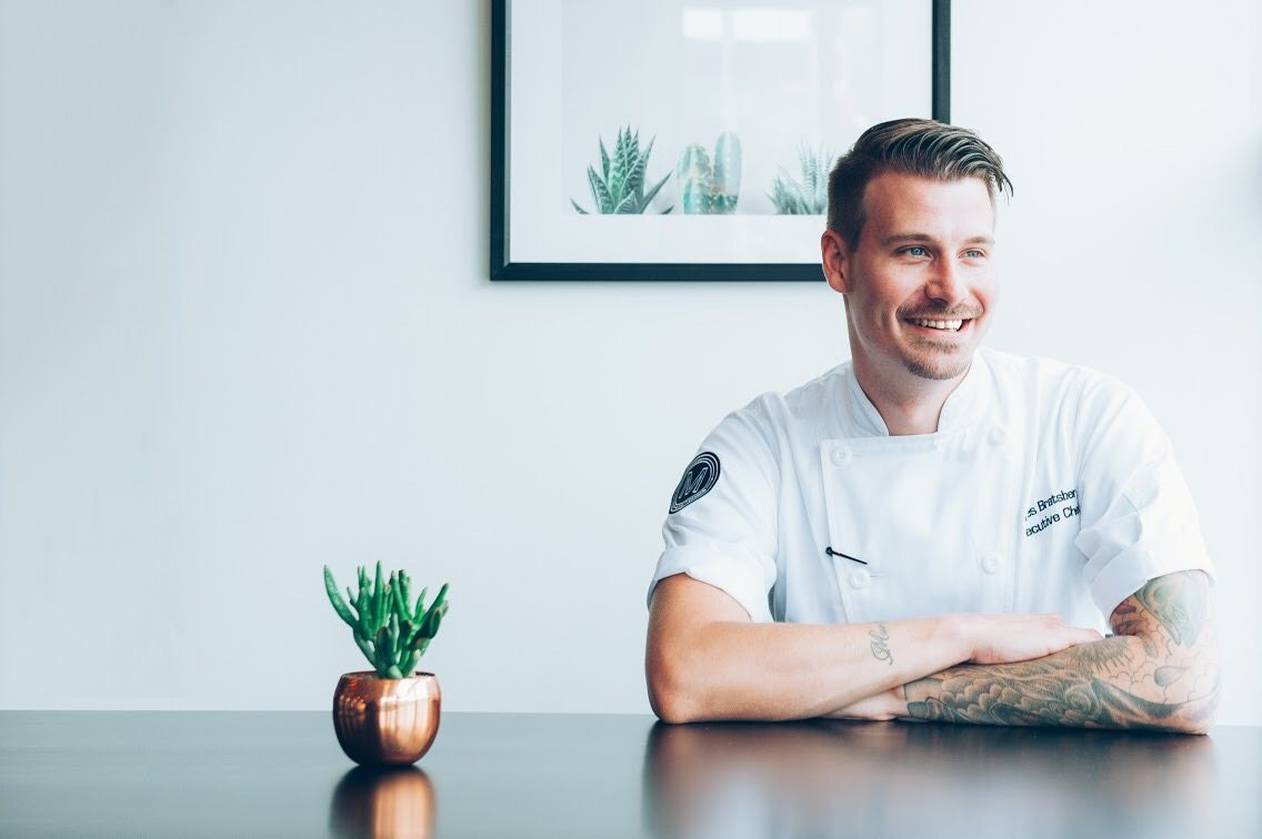Chef James Bratsberg honed his skills staging in London while MeNa was being renovated