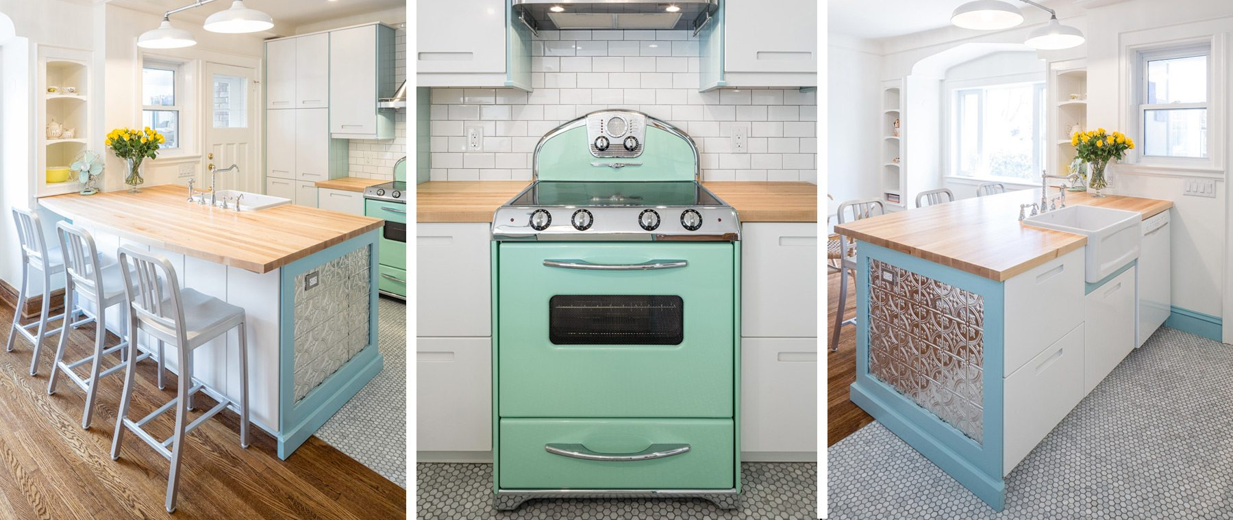 Retro-look stove — The centrepiece to a thoughtful remodel