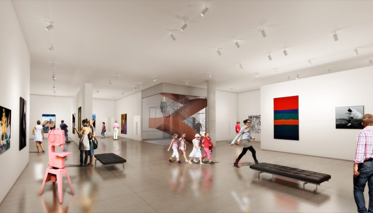Rendering of what one of the OAG's new galleries will look like. Photo: courtesy of OAG