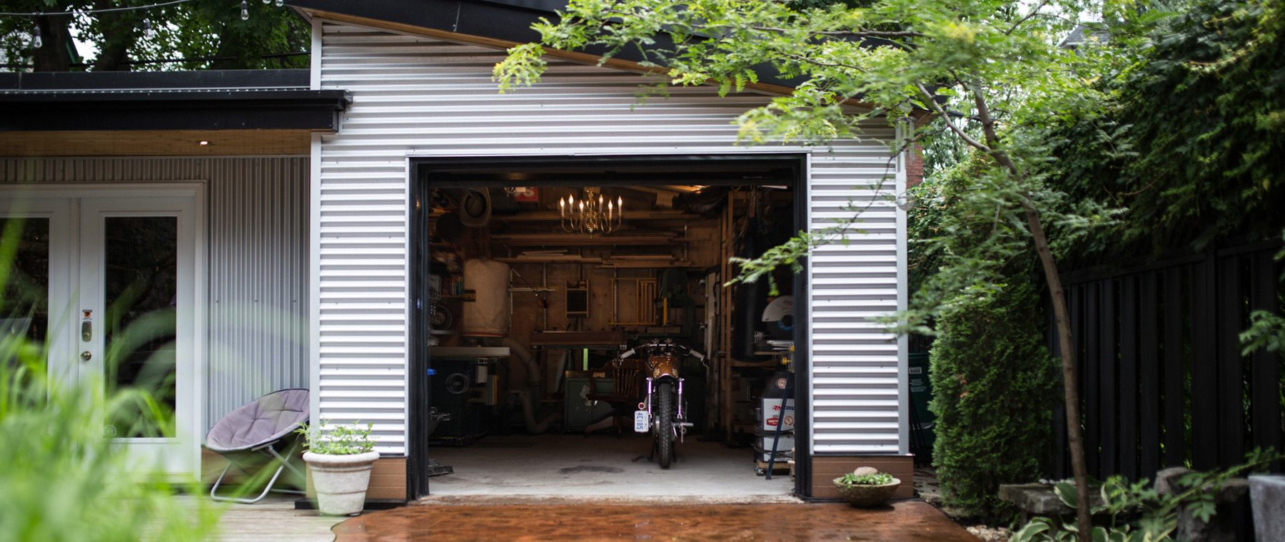 Woodworking studio designed to morph into anything next homeowner desires