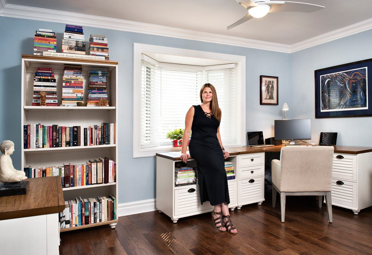 Dawn Kadlec in her home office. Photo: Marc Fowler