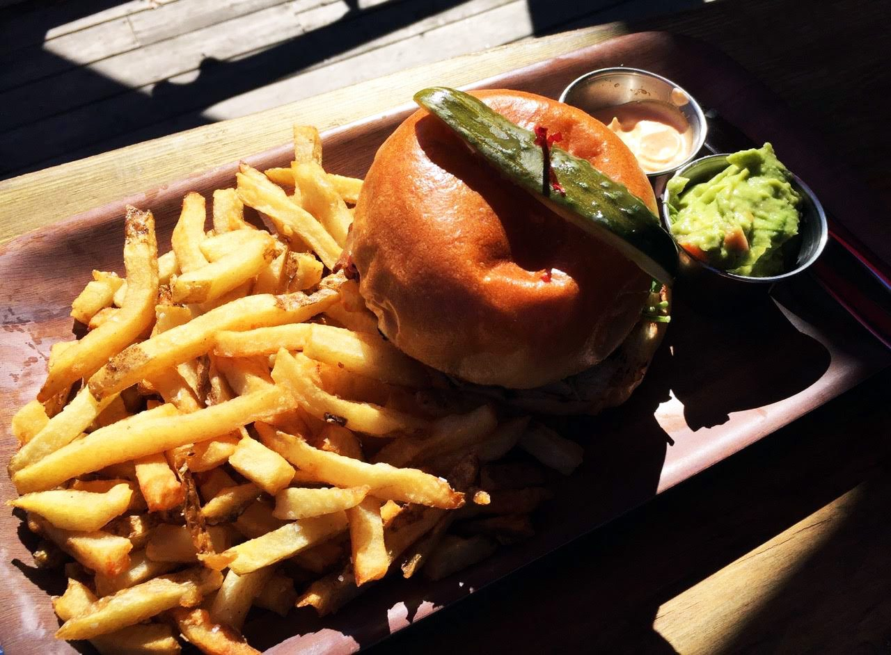 Le Hibou's burger and fries