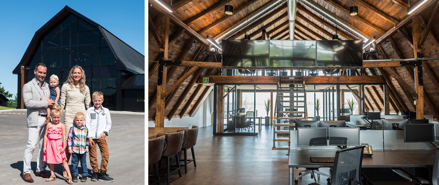 Family-friendly vibe in company's stunning, renovated Rockland barn