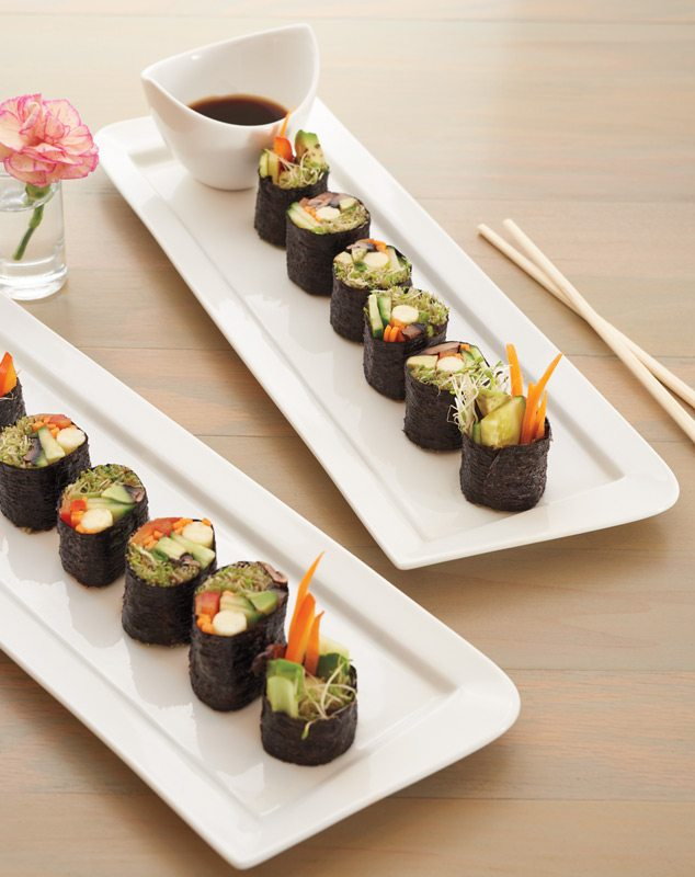 Rawlicious' sushi without rice. Instead: raw vegetables! Photo: Andre Rozon
