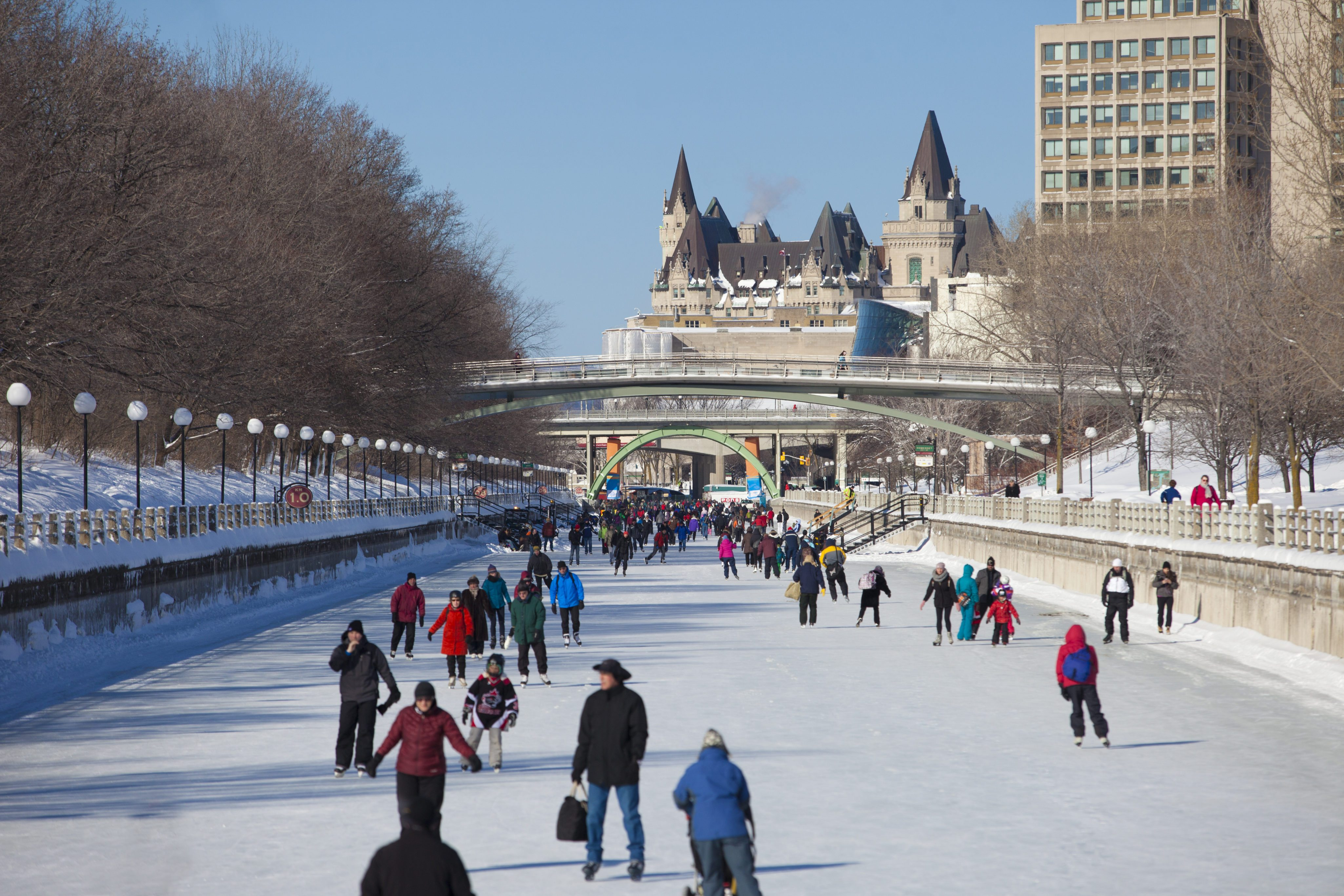The Rideau Canal Skateway. Photos by Canadian Heritage and Ottawa Tourism