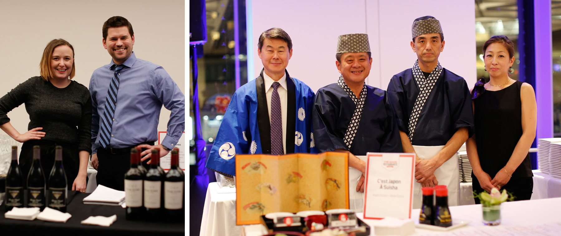 Left: Arterra Wines Canada. Right: C'est Japon a Suisha. Photo: David Kawai