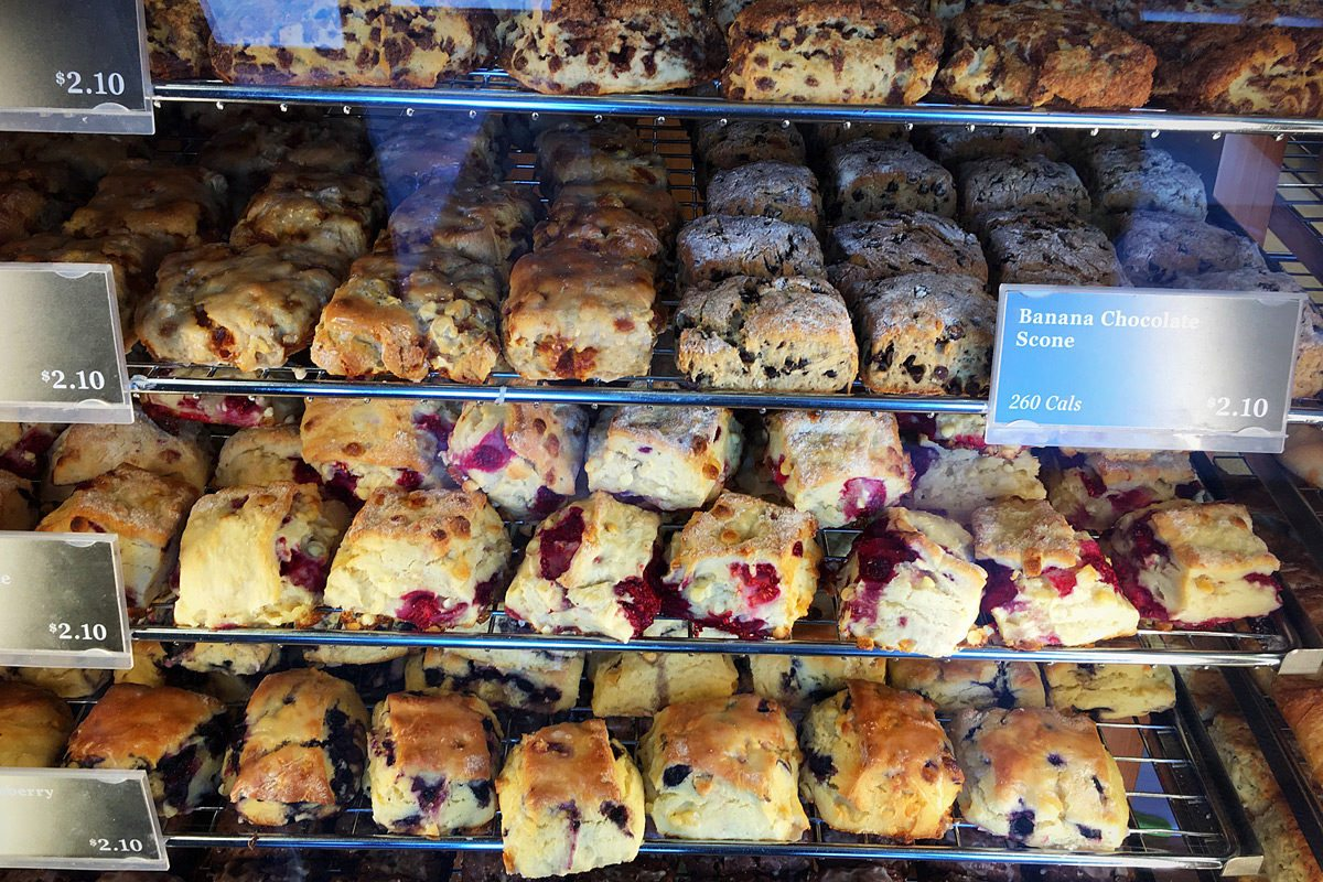 Along with breads, the bakery makes scones, mini pizzas, cinnamon buns and other sweet treats