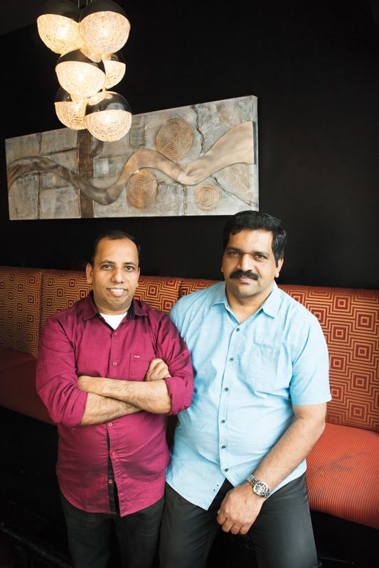 Kochin Owners: chef Anilkumar Oorkolil and Nelson Abraham