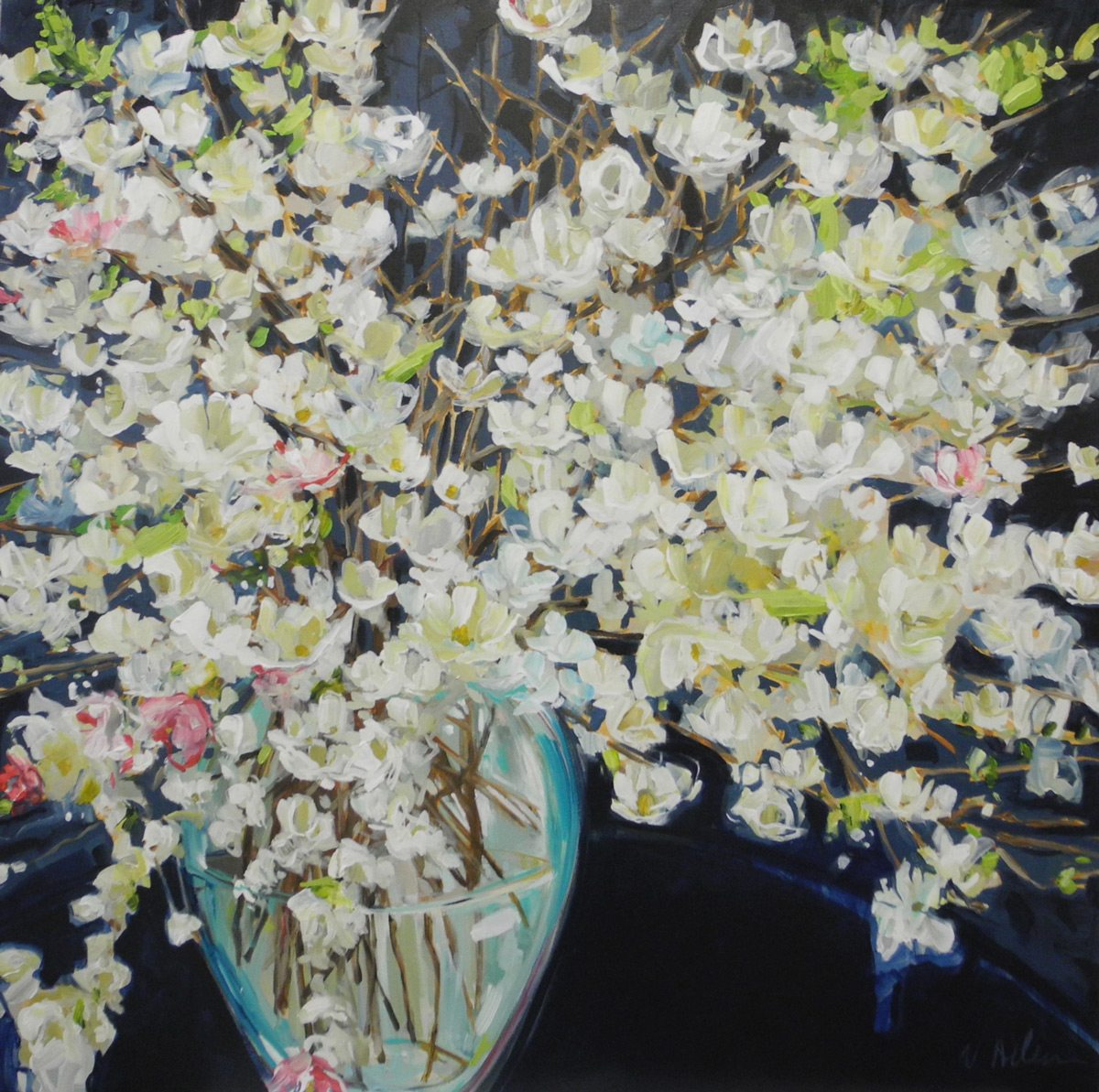 Nicole Allens, modern florals at Wall Space Gallery