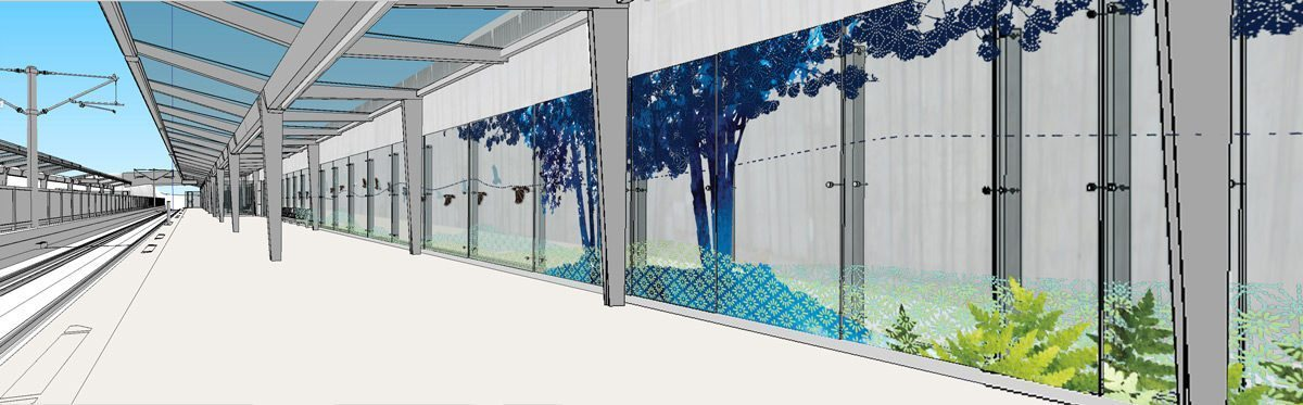 Lees Station, Transparent Passage, Amy Thompson. Rendering of image, courtesy of Amy Thompson