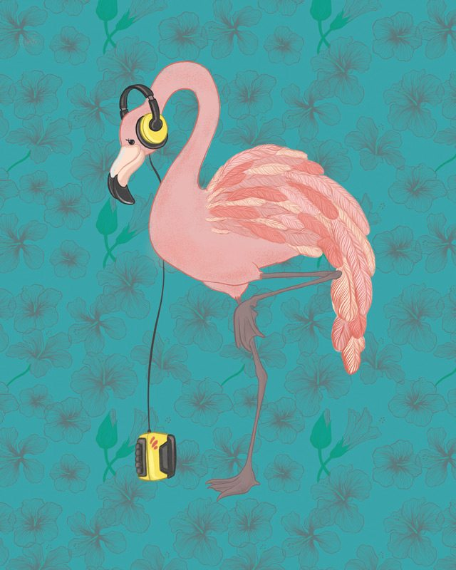 Flamingo — Cara Rowlands, Carabara Designs