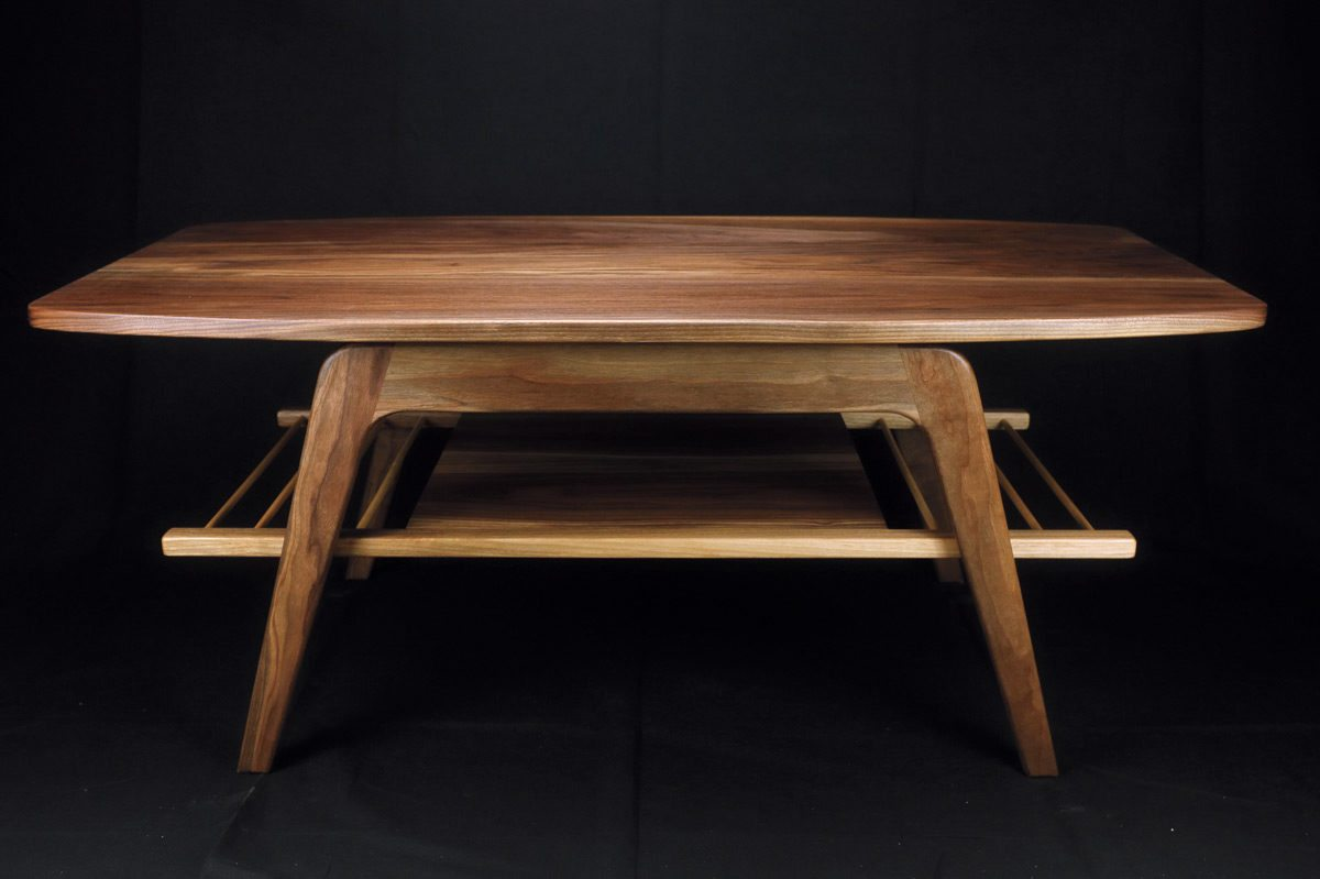 mid-century-modern coffee table by Dave Bradley. Photo, courtesy of ADV Photography