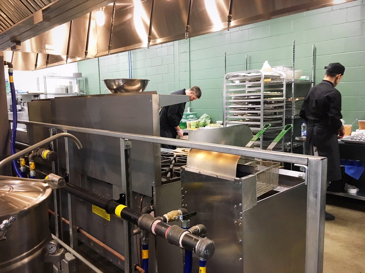 A sneak peek behind the scenes into the large production kitchen, which will let Thyme & Again expand its business in a number of directions