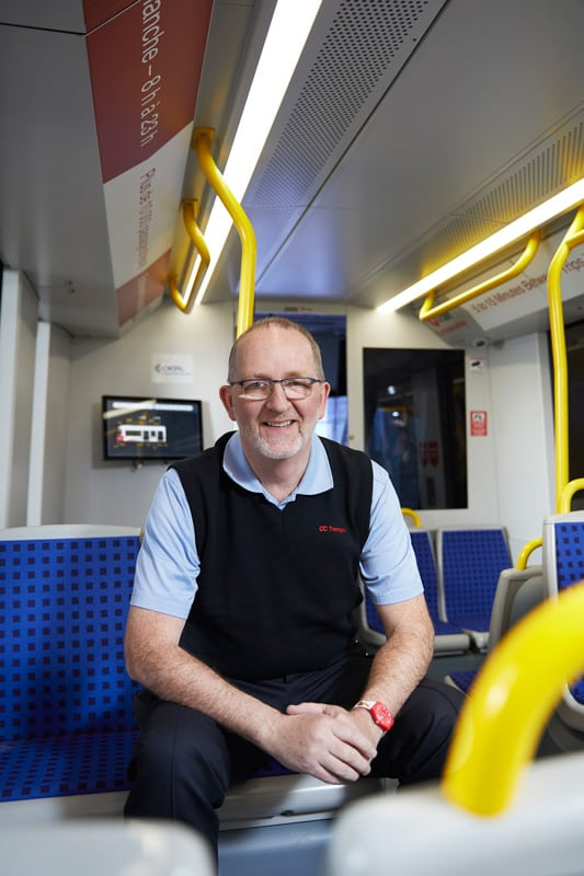 Meet your conductor: Peter Dornan, 58, an experienced OC Transpo bus driver and one of 35 electric rail operators training in the OC Transpo simulator. Photo: Remi Theriault
