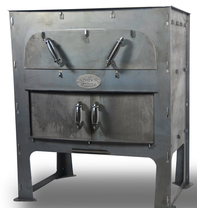 Oven Brothers pizza ovens arrive in a crate and can be assembled without any tools. Photo: Oven Brothers