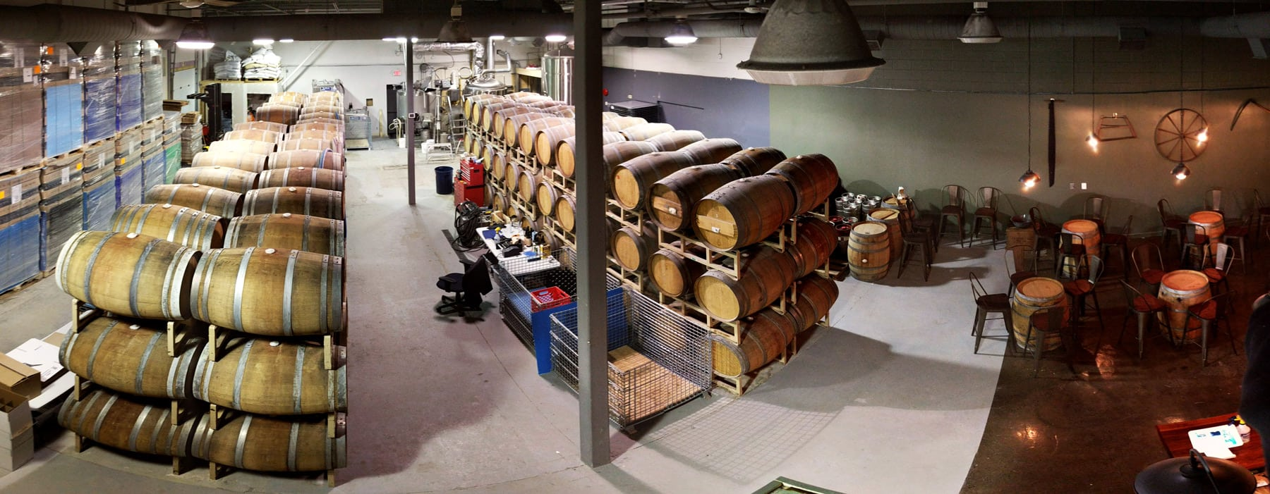 Inside Kanata's Small Pony Barrel Works. Photo: Jordan Duff