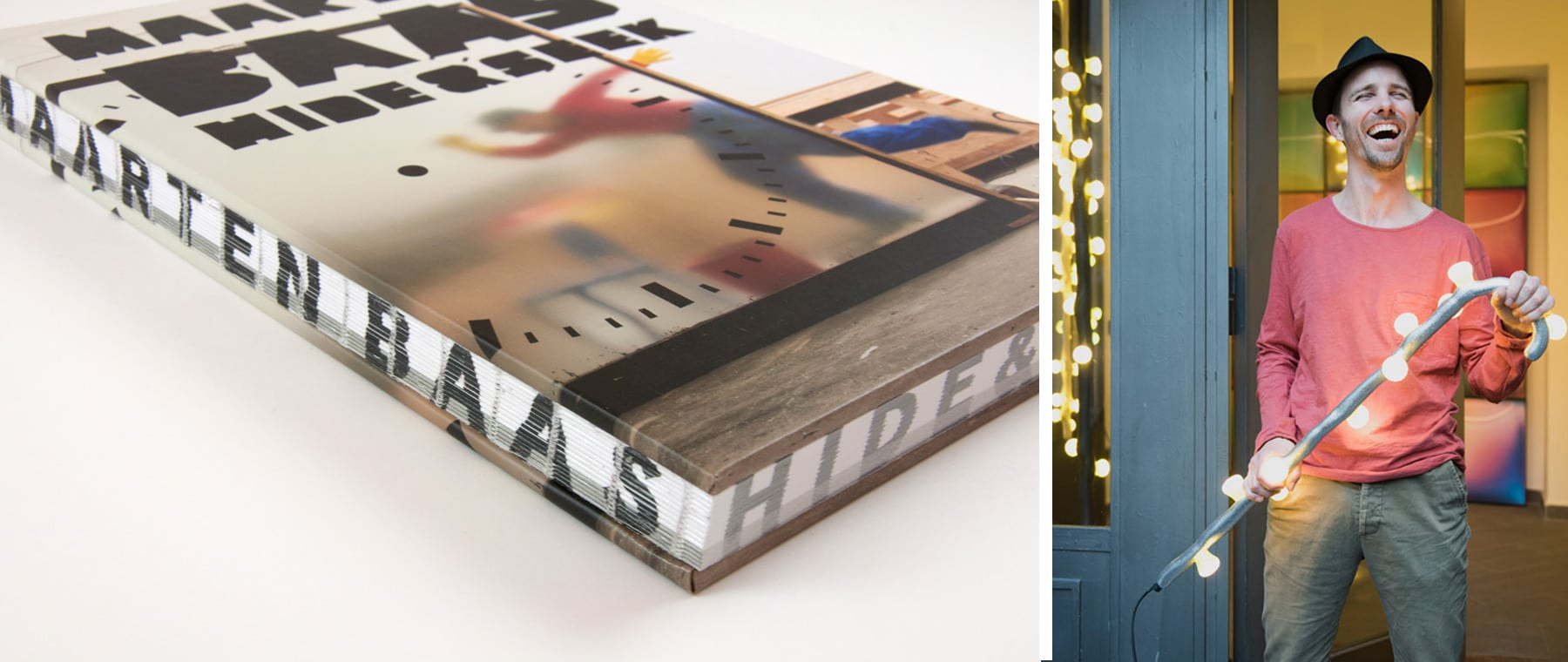 Left: Much celebrated in his native Netherlands, Maarten Baas was recently given a major retrospective show at the Groninger Museum, which produced a coffee-table book about his design; right, a portrait of the designer