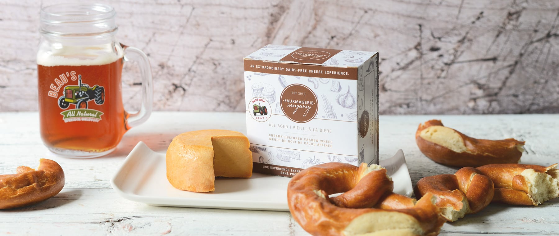 "Quel fromage! Fauxmagerie turns 5, partners with Beau's for beery ""cheddar"""