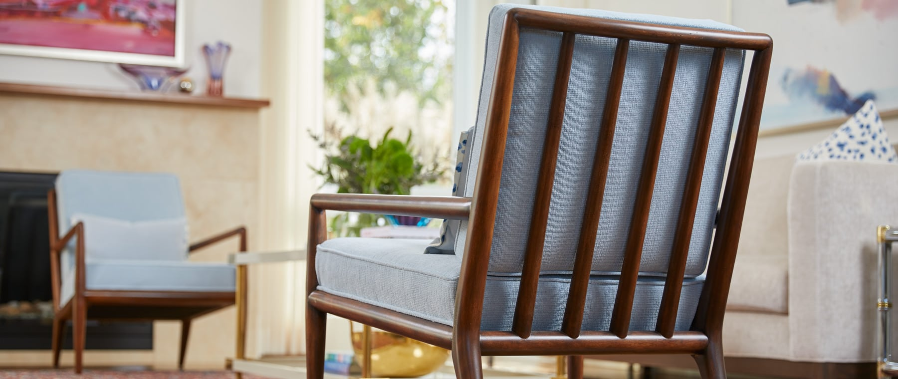 Mid-century-modern treasures, Robsjohn-Gibbings chairs hold place of pride in home