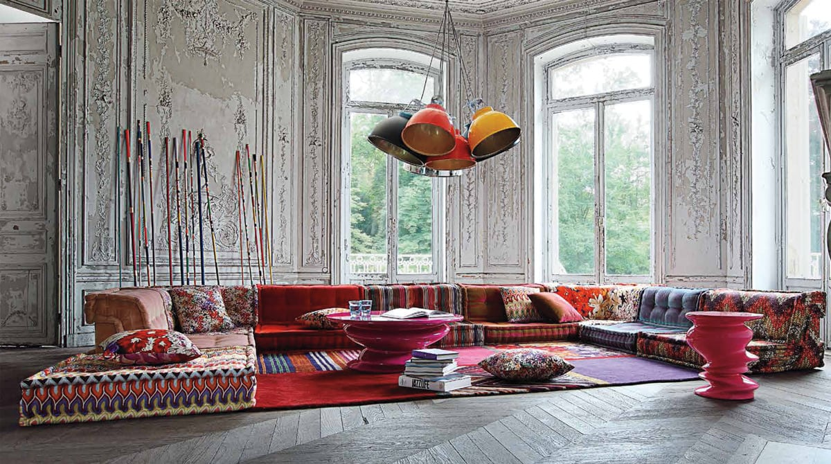 The Mah Jong sofa in Italy's Missoni Home