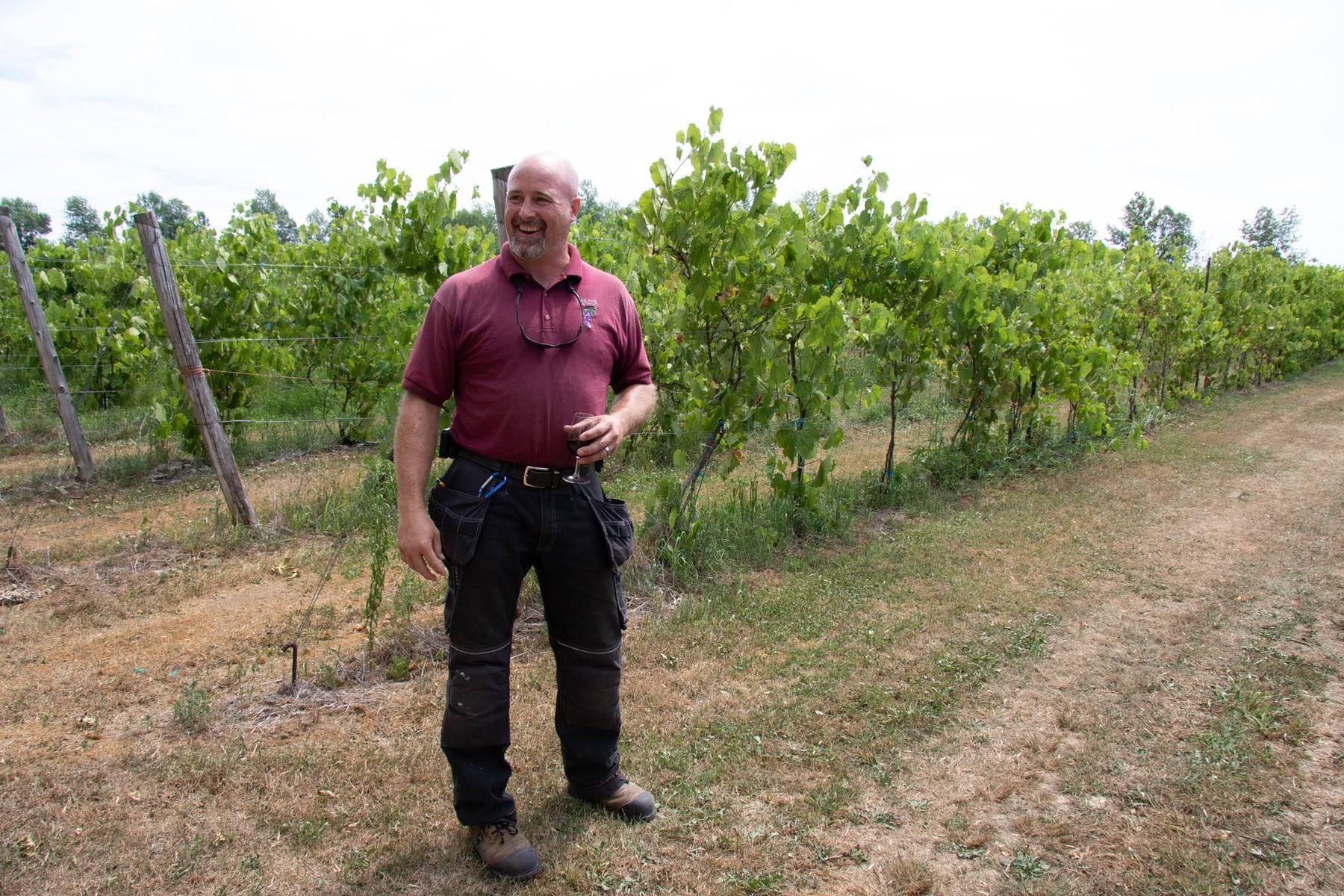 Smokie Ridge Vineyard's Claude LeBlanc