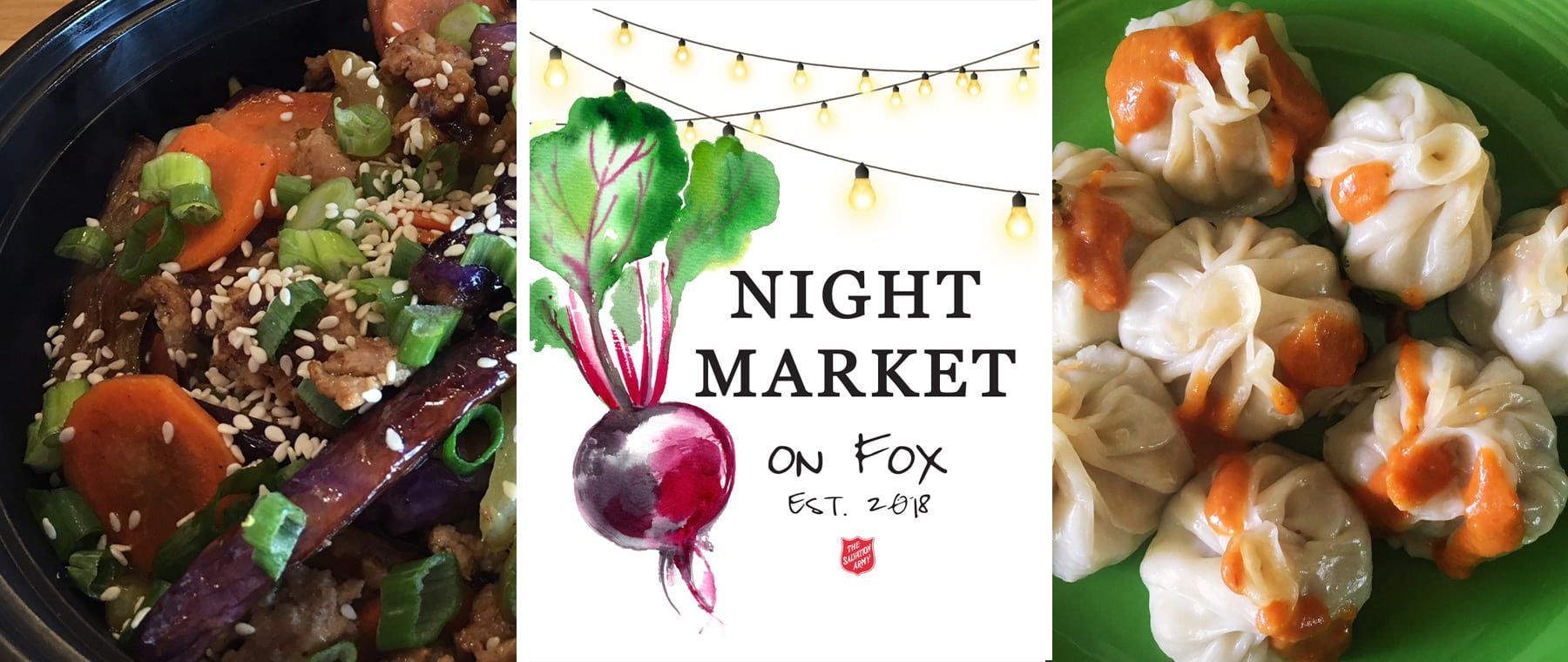 End of summer night market pairs 20+ food vendors + music Aug 31