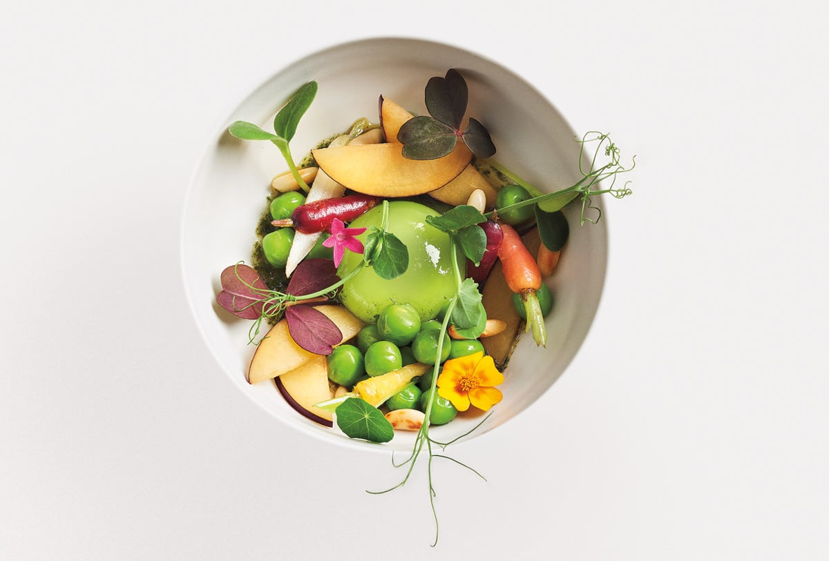 Just one of Marc Lepine's signature dishes, featured in his cookbook. Photo by Christian Lalonde, Photolux Studio