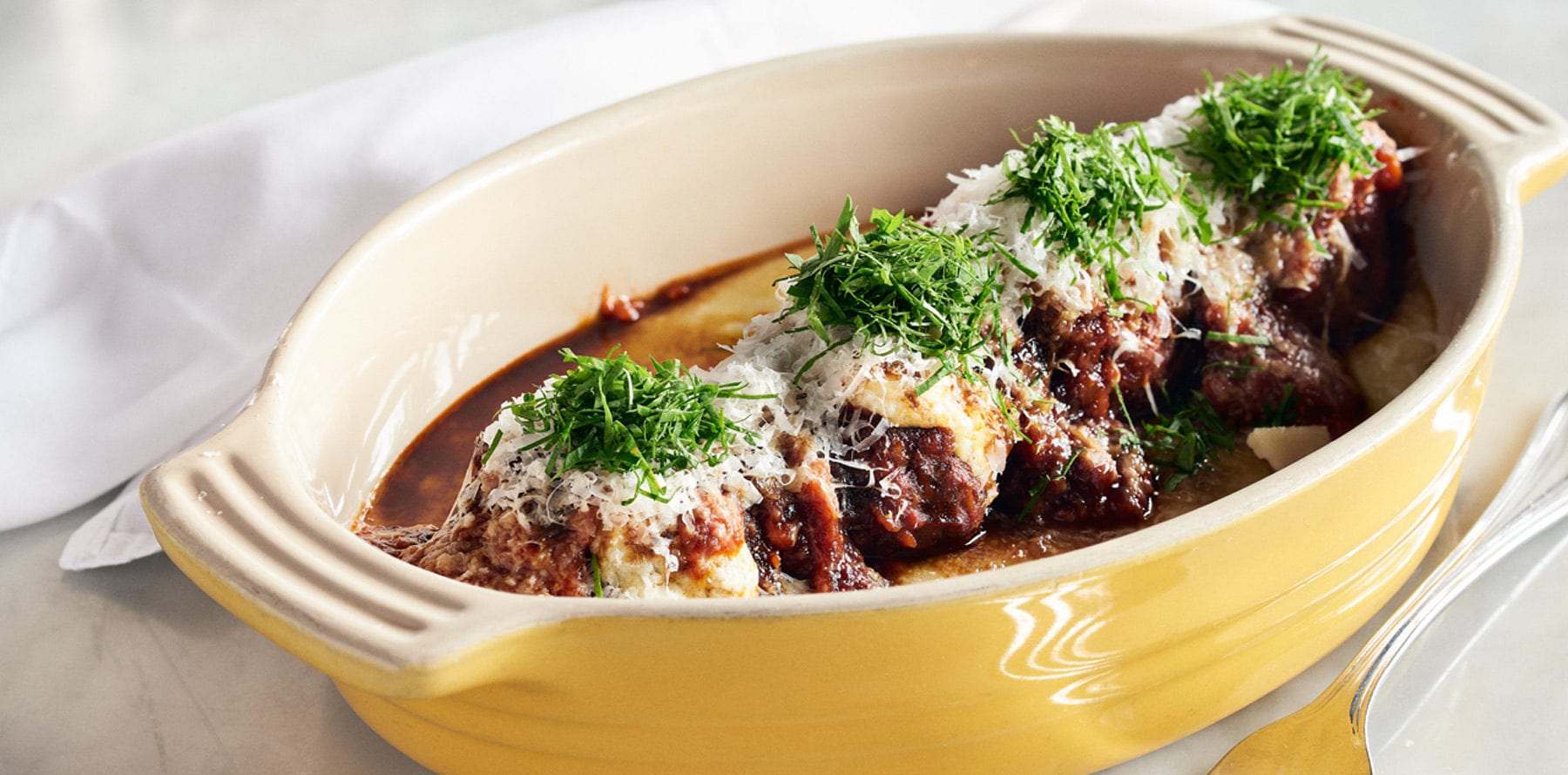Destination Dishes: Town's Ricotta-stuffed Meatballs